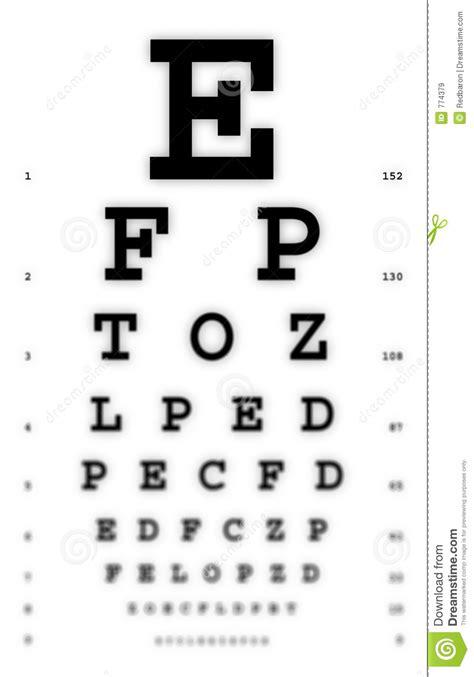 printable medical eye chart medical fuzzy sight of eye chart royalty free stock