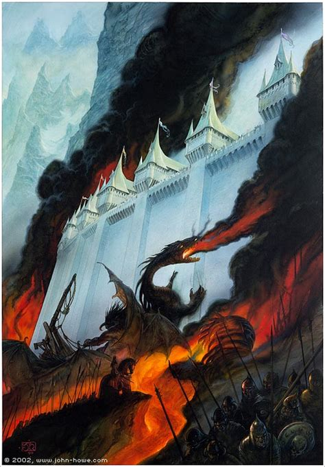 libro the art of fire john howe illustrator portfolio home the painting of middle earth the fall of gondolin