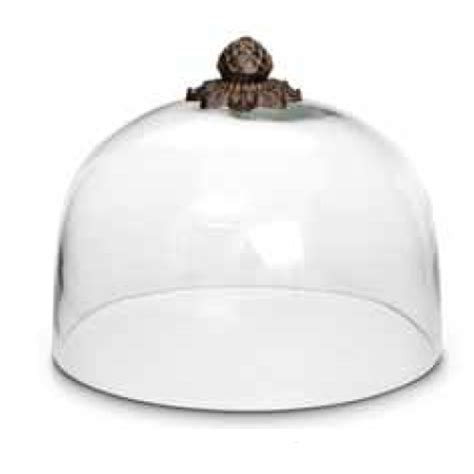 Metal Kitchen Canisters the gg collection glass cake dome w metal finial 31759