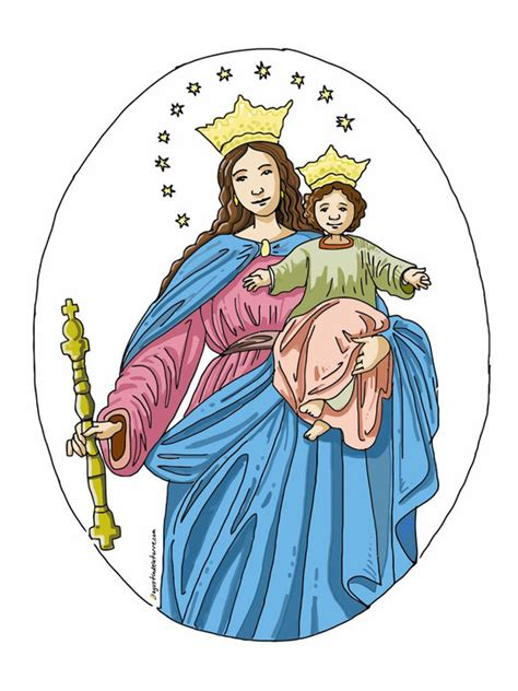 imagenes de la virgen maria ausiliadora mar 237 a auxiliadora agustin de la torre zarazaga dibujos