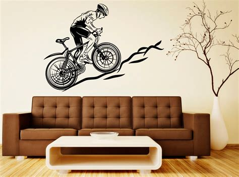 bicycle wall stickers bicycle wall decal wall vinyl sticker sport bike home interior