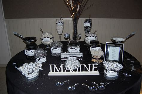 A Day In The Life With Tj Black White Candy Buffet Black And White Buffet