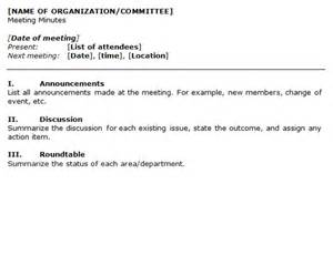 organization meeting minutes template image gallery meeting