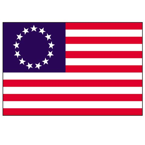printable flag of us clip art revolutionary war