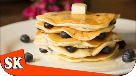 how to make blueberry pancakes steve s kitchen