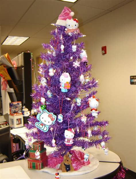 hello kitty christmas tree purple 7437 the wondrous pics