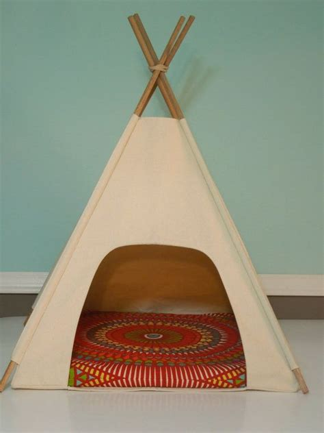 dog teepee bed dog teepee cat teepee modern pet bed natural canvas