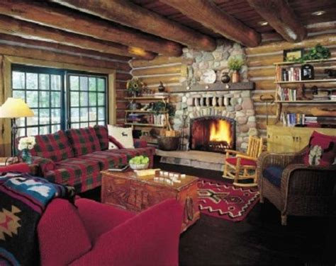 log cabin living room decor country living room decorating ideas living room