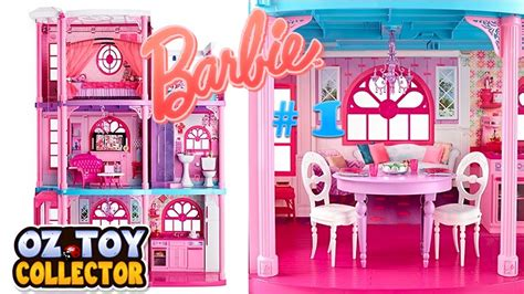 dream barbie doll house barbie life in the dream house dreamhouse doll house barbie toys unboxing part 1 youtube