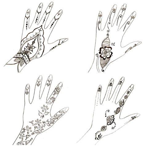 einfache henna tattoo hand vorlagen 1001 ideen wie sie ein henna selber machen