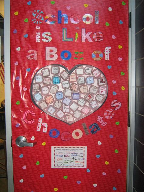 valentines classroom decorations quot school is like a box of chocolates quot s door