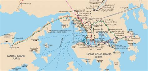 hong kong lantau island map hong kong maps china