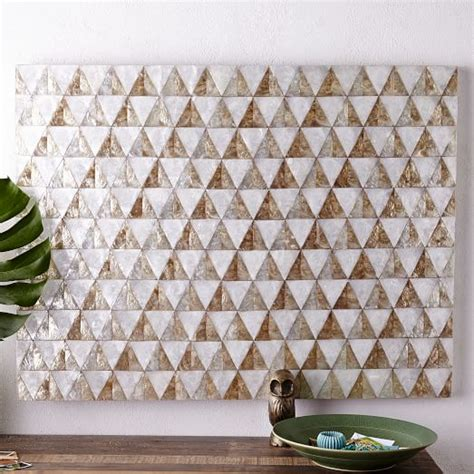 capiz home decor capiz wall art triangle west elm