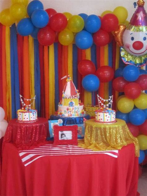 circus theme decorations carnival circus birthday ideas birthdays