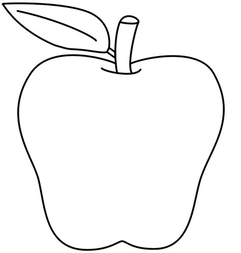 free apple templates free printable apple coloring pages for