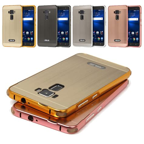 Alumunium Bumper Asus C 4c anti knock metal aluminum bumper fundas for asus zenfone 3 ze520kl brushed pc back cover