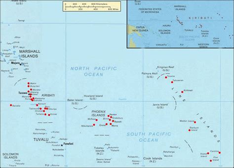 map of kiribati islands interesting facts about kiribati just facts