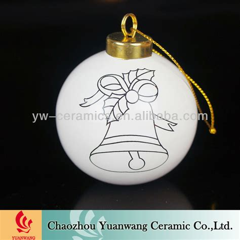 diy x mas decor ball unpainted ceramic christmas ornaments