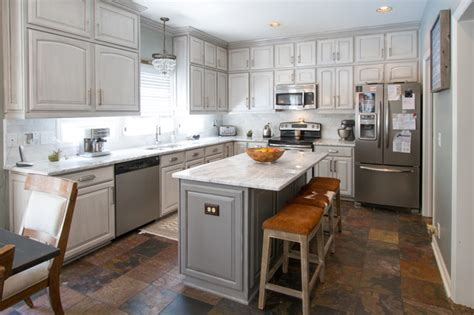 houzz painted kitchen cabinets gray painted kitchen cabinets transitional kitchen