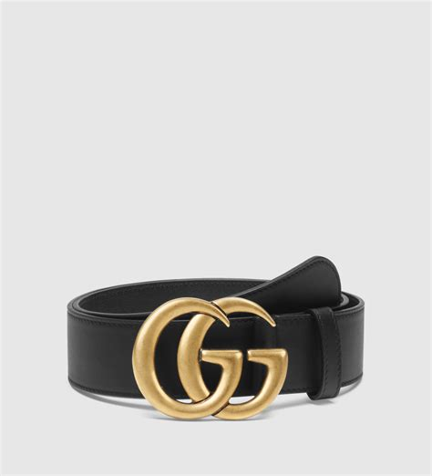 gucci leather belt with g buckle in black lyst