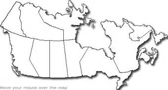 geography blank map of canada