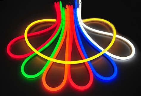 led neon flex light led neon rope light rope lighting 120v custom cut to length ropelight ebay