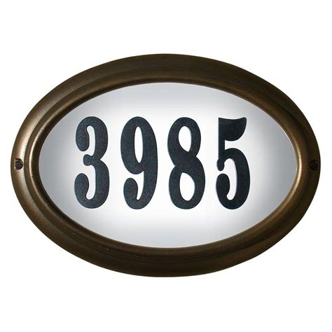 led lighted address signs qualarc edgewood oval aluminum lighted address plaque lto