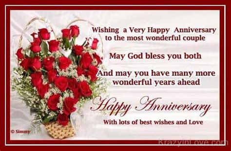 Wedding Anniversary Wishes With God Bless by May God Bless You Both