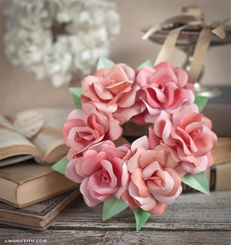 How To Make Small Roses With Paper - make a mini paper wreath lia griffith