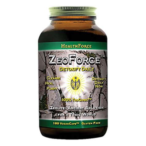 Healthforce Detox by Zeoforce Detoxify Daily 180 Vegancaps By Healthforce