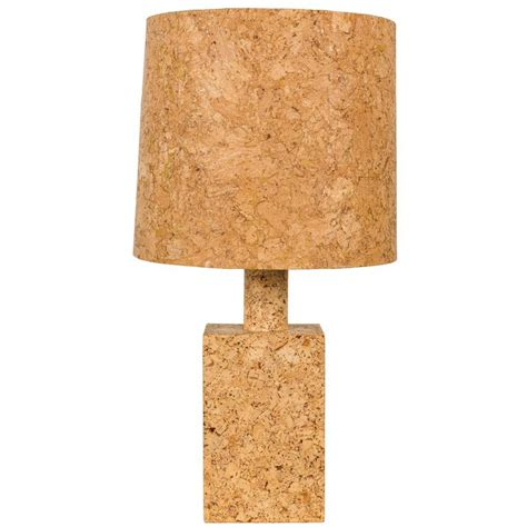 Cork L Shade cork table l with cork shade for sale at 1stdibs