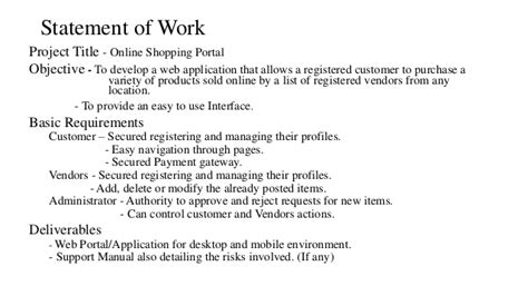online shopping portal software project plan
