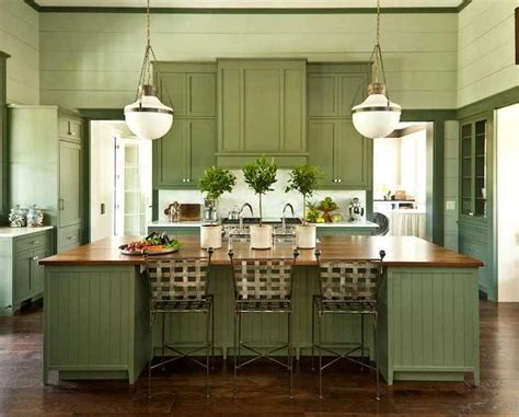 green cabinets cottage kitchen sherwin williams photos of green colored kitchens
