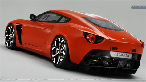aston martin back red color 2011 aston martin v12 zagato back pose wallpaper