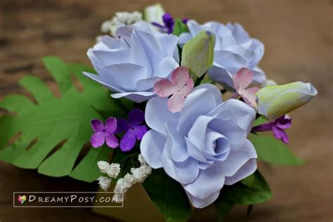 gardenia paper flower tutorial how to make gardenia paper flower and foliage free template