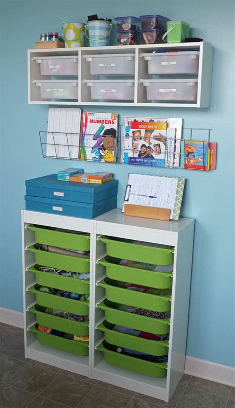 Papercraft Storage - arts and craft storage center teal and lime by jackie