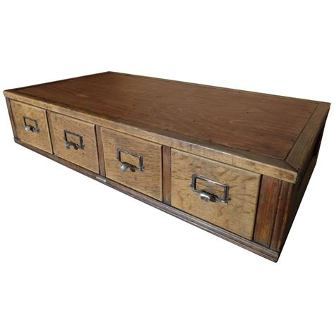 Large Drawer Unit Large Set Of Air Ministry Vintage Oak Drawer Unit
