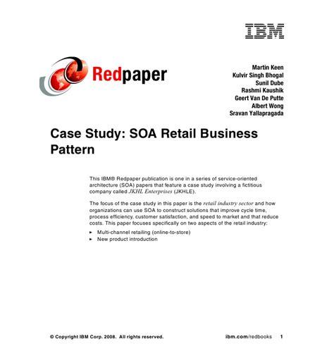 pattern matching analysis case study case study soa retail business pattern