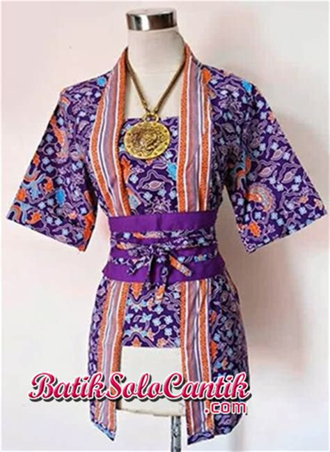 Nancy Celana blouse batik kutubaru model kartini nancy 03 baju kerja
