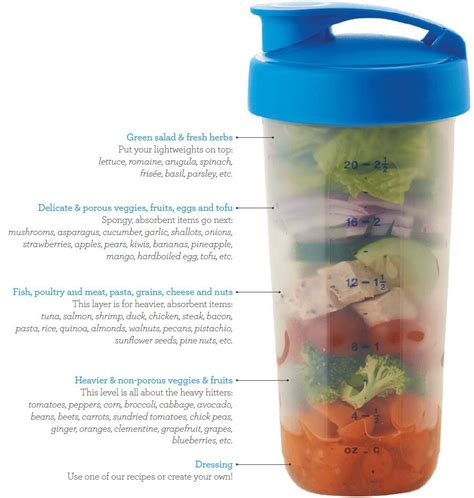 Shake By Tupperware 4 salads in a shake