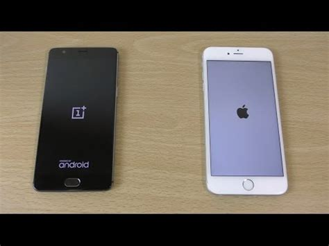 oneplus 3 vs apple iphone 6s plus speed test 4k