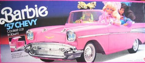 barbie 57 chevy barbie 57 chevy convertible vehicle pink coolest car in