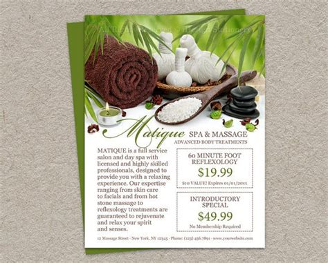 spa menu of services template personalized spa salon flyer with prefilled coupons and