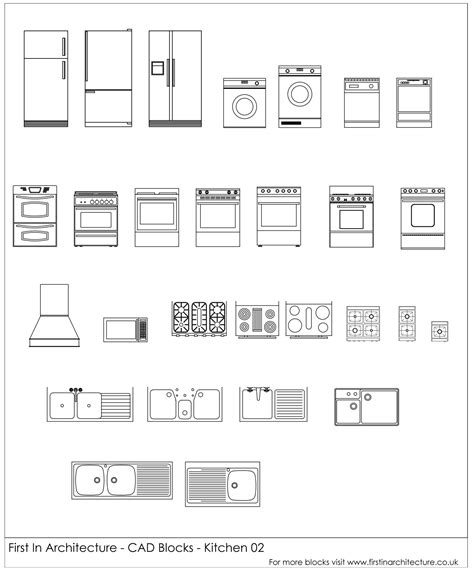 autocad for kitchen design free cad blocks kitchen appliances 02 first in