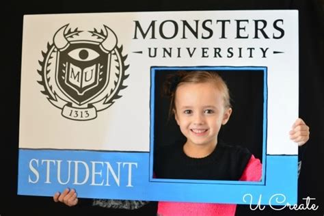 monsters student card template diy student id card diy do it your self