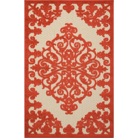 4 x 8 outdoor rug nourison aloha 2 ft 8 in x 4 ft indoor outdoor accent rug 299154 the home depot