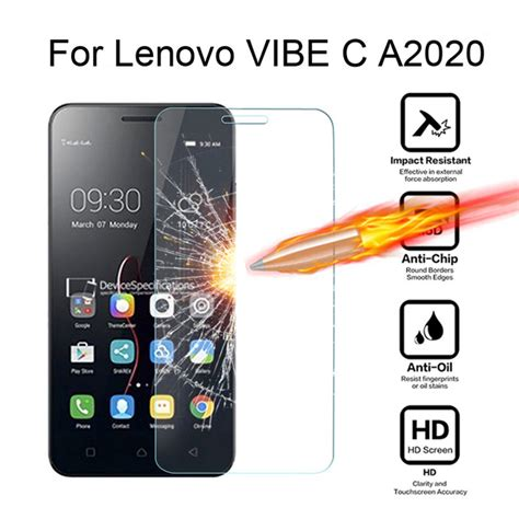 Hippo Lenovo Vibe C Tempered Glass Screen Guard for lenovo vibe c a2020 a2020a40 ds a 2020 5 0 inch tempered glass cover screen protector for