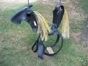 rubber tire horse swing 17 best images about schommelpaard autoband on pinterest