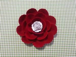 fiori di feltro come fare tutorial fiore facile di feltro cartoncino