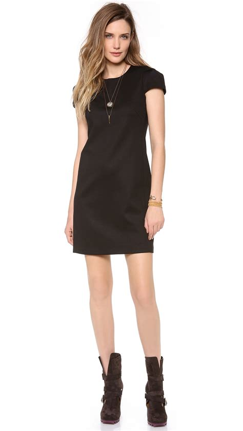 Who Wore It Better Cap Sleeve Mini Dress by Cap Sleeve Mini Dress In Black Lyst